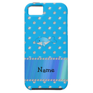 Personalized name whale blue diamonds iPhone 5 cases