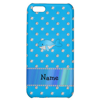 Personalized name whale blue diamonds iPhone 5C cases