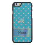 Personalized name whale blue diamonds carved® maple iPhone 6 case