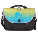 Personalized name whale rainbow hearts computer bag