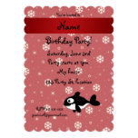 Personalized name whale red snowflakes card