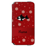 Personalized name whale red snowflakes incipio watson™ iPhone 6 wallet case