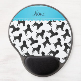 Personalized name white affenpinscher dogs gel mouse pad