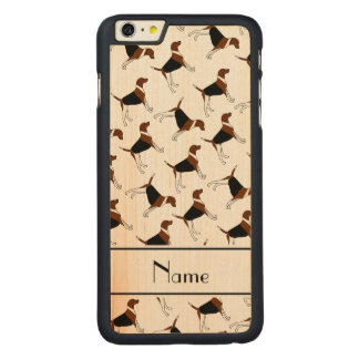 Personalized name white american foxhound dogs carved® maple iPhone 6 plus slim case