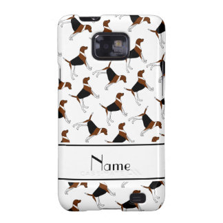Personalized name white american foxhound dogs galaxy SII covers