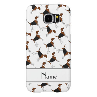 Personalized name white american foxhound dogs samsung galaxy s6 cases