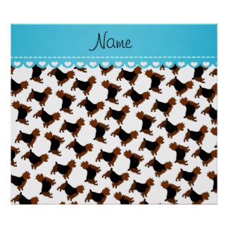 Personalized name white australian terrier dogs poster