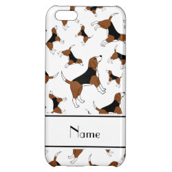 Case Savvy Matte Finish iPhone 5C Case with Beagle Phone Cases design