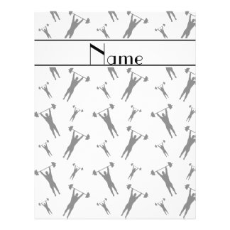 """Personalized name white black weightlifting 8.5"""" x 11"""" flyer"""