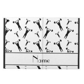 Personalized name white black weightlifting iPad air case