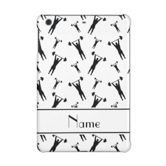 Personalized name white black weightlifting iPad mini cases