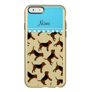Personalized name white bloodhound dogs incipio feather® shine iPhone 6 case