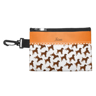 Personalized name white border terrier dogs accessory bag