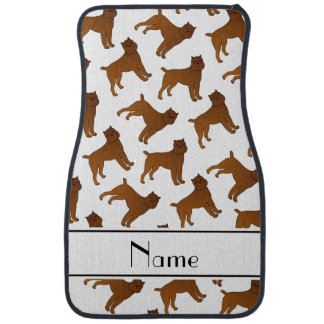 Personalized name white brussels griffon dogs car floor mat