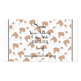 Personalized name white Bulldog Double-Sided Standard Business Cards (Pack Of 100)
