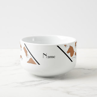 Personalized name white Bulldog Soup Mug