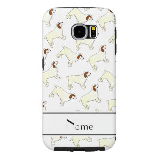 Personalized name white clumber spaniel dogs samsung galaxy s6 case