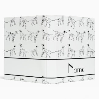 Personalized name white dalmatian dogs binders