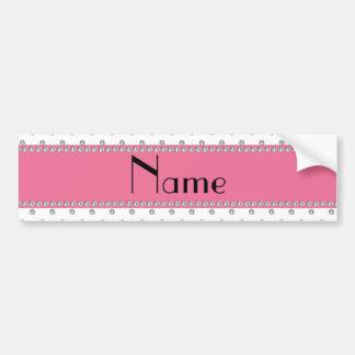 Personalized name white diamonds bumper sticker
