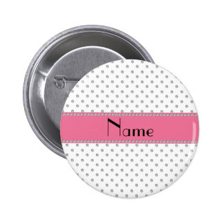 Personalized name white diamonds pinback button