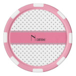 Personalized name white diamonds set of poker chips