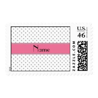 Personalized name white diamonds postage stamps