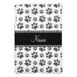 Personalized name white dog paw print iPad mini cases