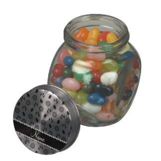 Personalized name white dreamcatchers jelly belly candy jars