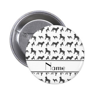 Personalized name white Giant Schnauzer dogs 2 Inch Round Button