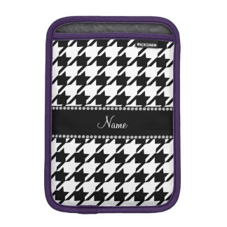 Personalized name white houndstooth sleeve for iPad mini