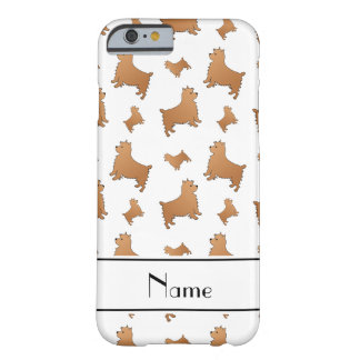 Personalized name white Norwich Terrier dogs Barely There iPhone 6 Case