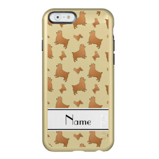 Personalized name white Norwich Terrier dogs Incipio Feather® Shine iPhone 6 Case