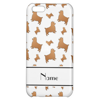 Personalized name white Norwich Terrier dogs iPhone 5C Cover