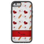 Personalized name white nurse pattern iPhone 6 case