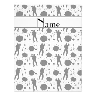 """Personalized name white paintball pattern 8.5"""" x 11"""" flyer"""