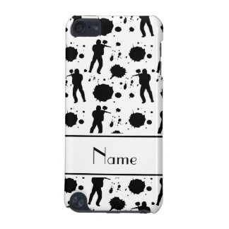 Personalized name white paintball pattern iPod touch (5th generation) covers
