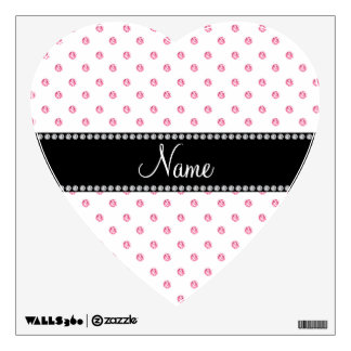 Personalized name White pink diamonds Wall Decals