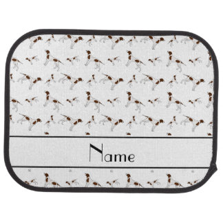 Personalized name white Pointer dogs Car Mat