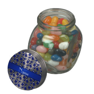 Personalized name white police box jelly belly candy jars