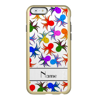 Personalized name white rainbow octopus incipio feather shine iPhone 6 case