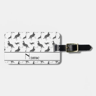 Personalized name white siberian husky dogs tags for luggage