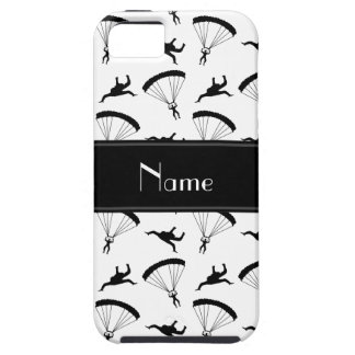 Personalized name white skydiving pattern iPhone SE/5/5s case
