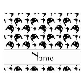 Personalized name white sumo wrestling postcard