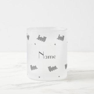 Personalized name white train pattern mug