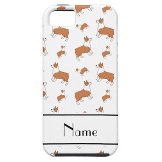 Personalized name white Welsh corgi pembroke dogs iPhone SE/5/5s Case