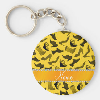 Personalized name white women's shoes pattern keychain
