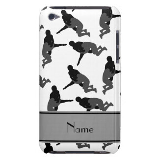 Personalized name white wrestling Case-Mate iPod touch case