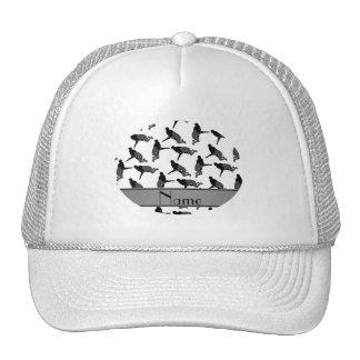 Personalized name white wrestling trucker hat