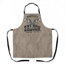 Personalized NAME Wild West Gun Revolver Saloon Apron