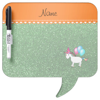 Personalized name witch green glitter Dry-Erase whiteboard